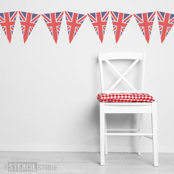 Union Jack Bunting from The Stencil Studio - Size S