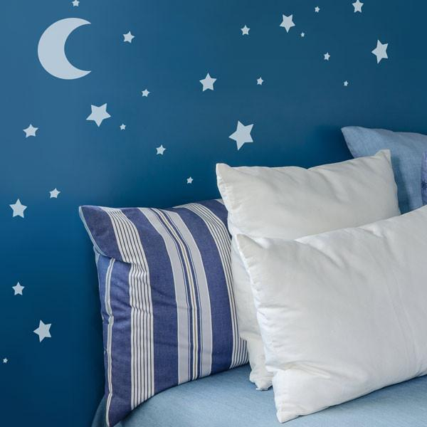 Moon and Stars Childrens Nursery Wall Stencil from The Stencil Studio - Stencil Size S
