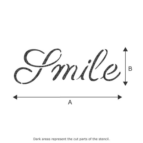 Smile text stencil from The Stencil Studio Ltd