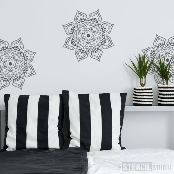 Mandi Mandal Stencil - Indian stencils from The Stencil Studio Ltd - Size S