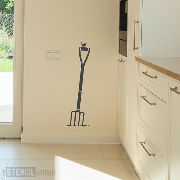 Mr McGregor garden form and wren stencil from The Stencil Studio Ltd - Size L