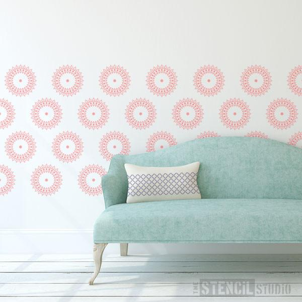 Mundi Circle Motif Stencil at The Stencil Studio - Stencil Size S