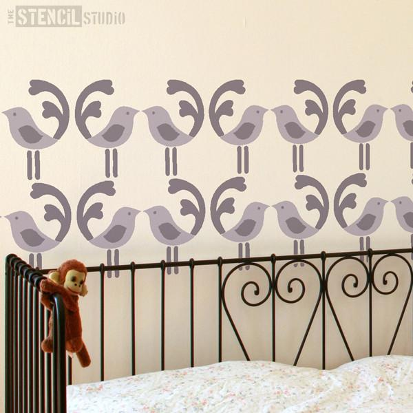 Bo Bird Border stencil from the stencil studio ltd size L