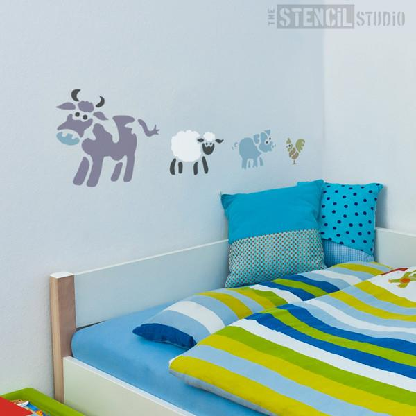 Farm Animals Stencil from The Stencil Studio Ltd - Size L