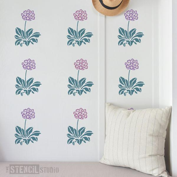 Auricula stencil from The Stencil Studio Ltd - Size S