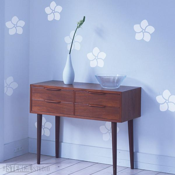 Frangipani Flower stencil from The Stencil Studio Ltd - Size S