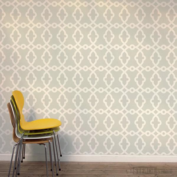 Rabat Moroccan Pattern stencil from The Stencil Studio Ltd - Size XL