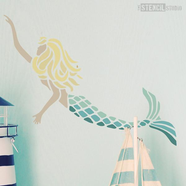 Millie Mermaid stencil from The Stencil Studio Ltd - Size S