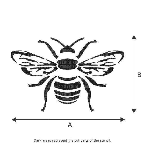 Bee stencil from The Stencil Studio Ltd