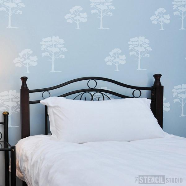 Siddington Trees Stencil from The Stencil Studio Ltd - Size M/A3