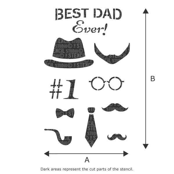 Best Dad Ever! stencil from The Stencil Studio Ltd