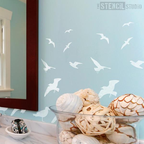 St Ives Seagulls stencil from The Stencil Studio Ltd - Size S