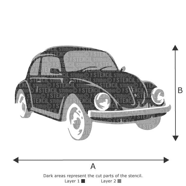 BEETLE CAR STENCIL FROM THE STENCIL STUDIO LTD