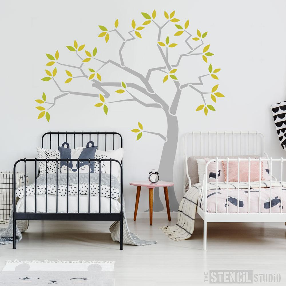 Woodland Tree Stencil from The Stencil Studio Ltd