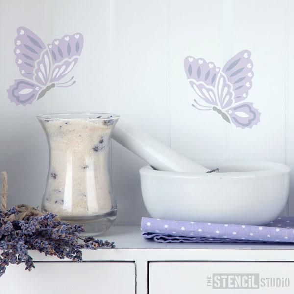 Fluttering Butterfly stencil from The Stencil Studio Ltd - Size XS
