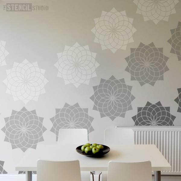 Lotus Flower stencil from The Stencil Studio Ltd - Size XL
