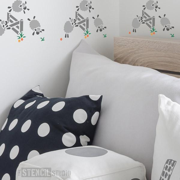 Jumping Sheep stencil from The Stencil Studio Ltd - Size XS