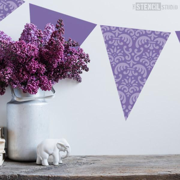 Mini Damask Bunting stencil from The Stencil Studio Ltd - Size S