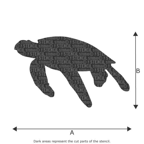 Turtle stencil from The Stencil Studio Ltd