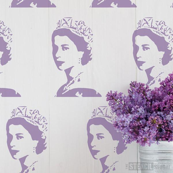 Young Queen stencil from The Stencil Studio Ltd - Size XS