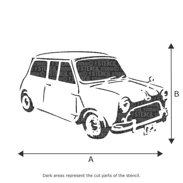 Mini Car stencil from The Stencil Studio Ltd