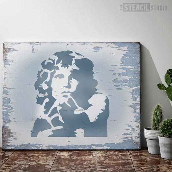Jim Morrison stencil from The Stencil Studio Ltd - Size L