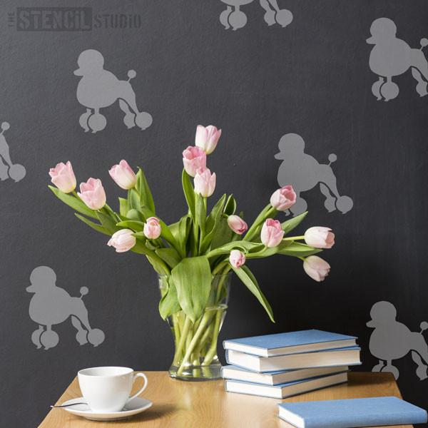 Poodle stencil from The Stencil Studio Ltd - Size S