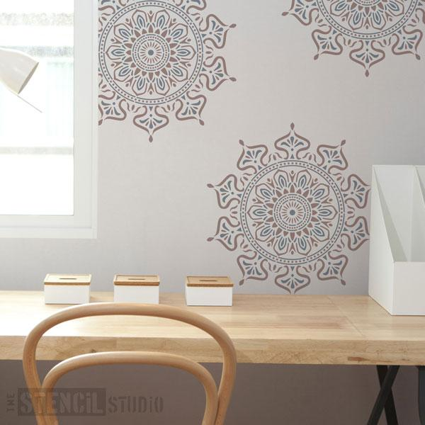 Zara Mandala Indian Motif stencil from The Stencil Studio - Size M