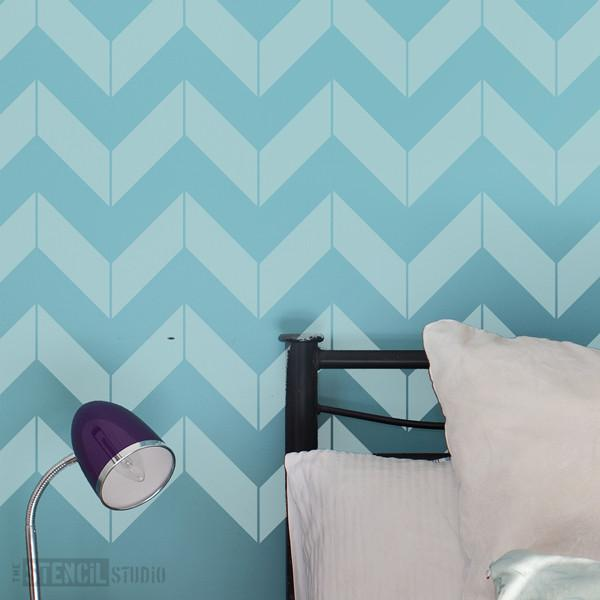 Chevron stencil from The Stencil Studio Ltd - Size L