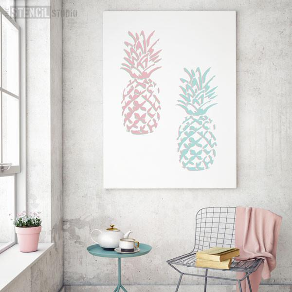 Pineapple stencil from The Stencil Studio Ltd - Size XL