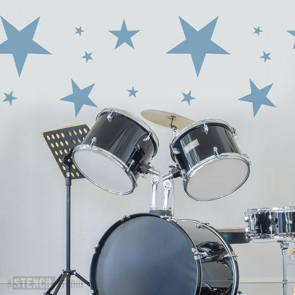Stars Stencil from The Stencil Studio Ltd - Size XL