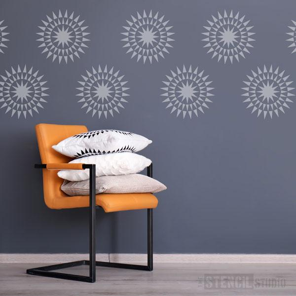 Blazing Star Motif stencil from The Stencil Studio - Size S