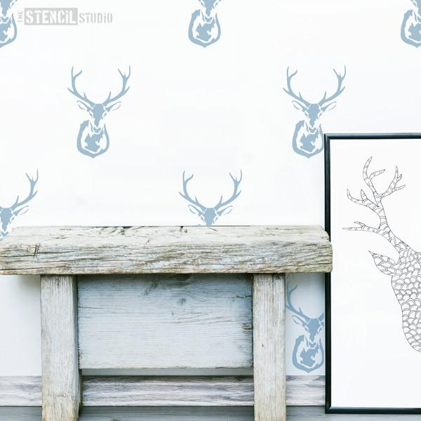 Stag's Head Stencil from The Stencil Studio Ltd - Size S