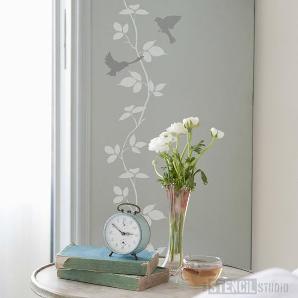 Stratford Birds and Branch stencil - Size L