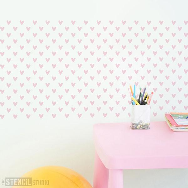 Vintage Heart Repeat stencil from The Stencil Studio Ltd - Size XS