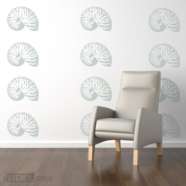 Nautilus Shell stencil from The Stencil Studio Ltd - Size M