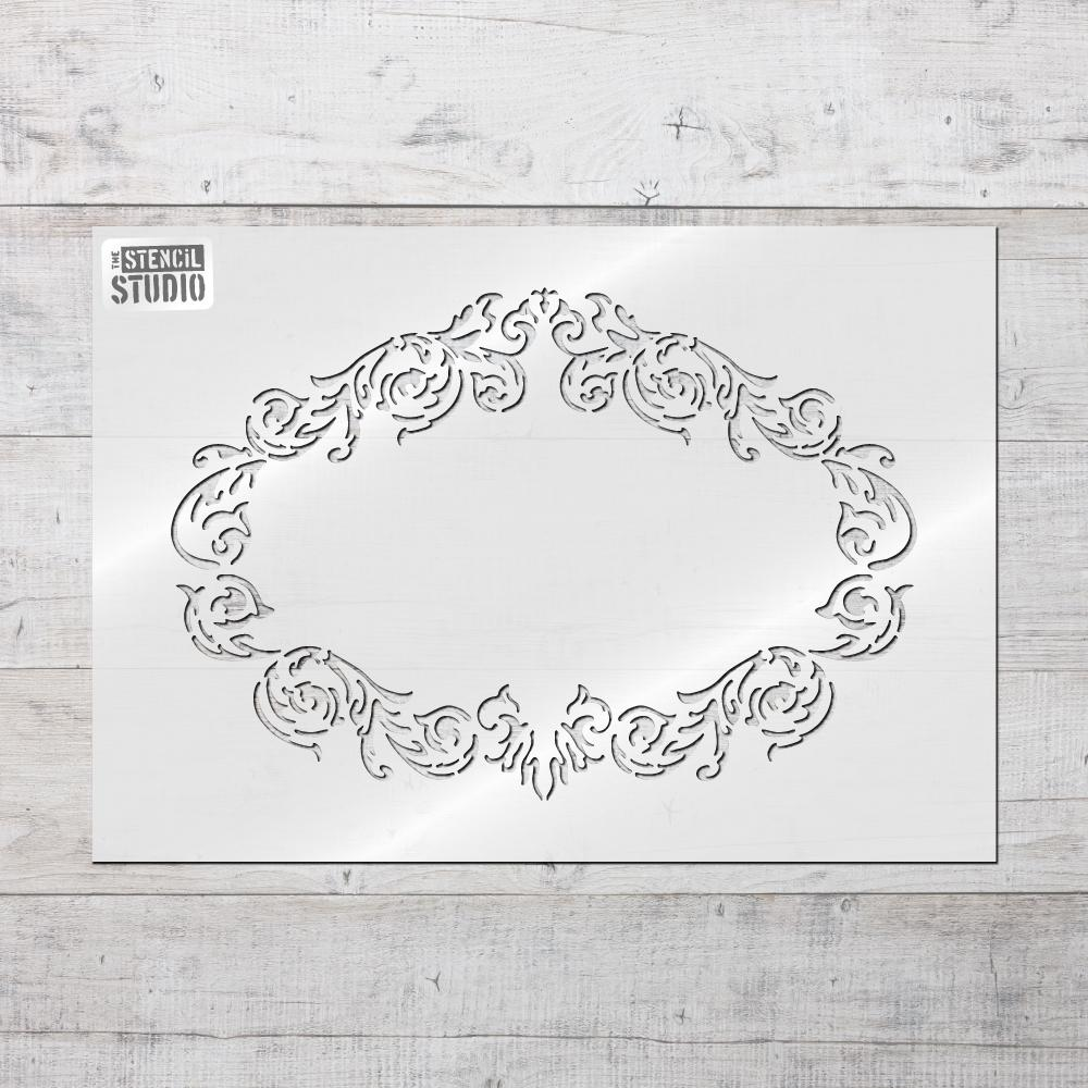 Vintage Frame Stencil - use it on it's own or with our range of French advertising text
