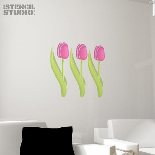 Tulip stencil from The Stencil Studio Ltd - Size M