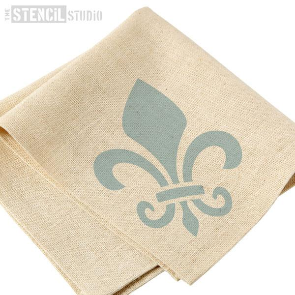 Fleur de Lys stencil from The Stencil Studio Ltd - Size XS