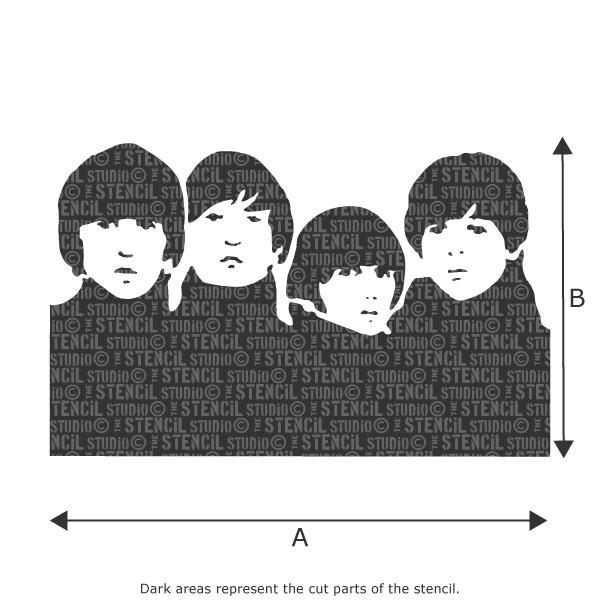 beatles stencil from the stencil studio ltd