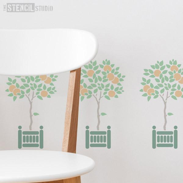 Orange Tree stencil from The Stencil Studio Ltd - Size S