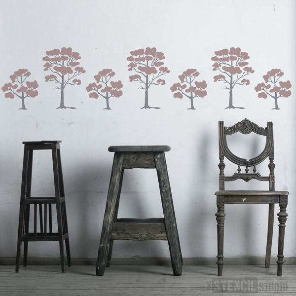 Siddington Trees Stencil from The Stencil Studio Ltd - Size L