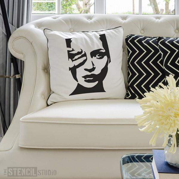 Kate Moss stencil from The Stencil Studio Ltd - Size M