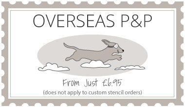 overseas post and packing from jst 6.95