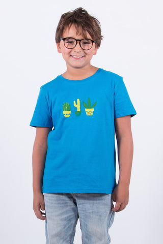 180 CAMISETA KID CACTUS MACETA