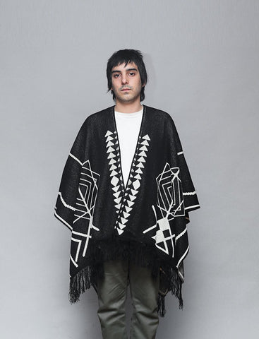PAY'S PONCHO REPTILECTRIC BLACK