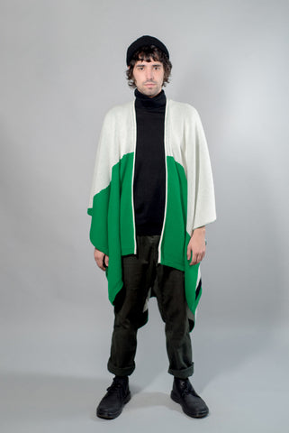 PAY'S PONCHO ALL OVER GREEN