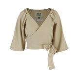 AMOR & ROSAS TOP ABSTRACT BEIGE