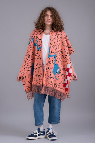 PAYS PONCHO SNIPPET CORAL UT