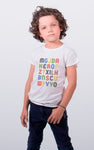 180 CAMISETA KID ALFABETO WHITE